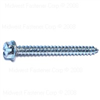 1/4 X 2-1/2 Slotted Hex Washer Sheet Metal Screws Zinc 0