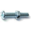 1/4-20 X 1-1/2 Combo Round Machine Screws w/ Nuts Zinc 4/pk 0