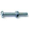 1/4-20 X 2       Combo Round Machine Screws w/ Nuts Zinc 4/pk 0