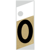 "1"" - 0 Black/Gold Slanted Aluminum Numbers 0"