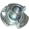 8-32 X 1/4      T-Nut Pronged Zinc 1/pk 0