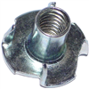 1/4-20 X 7/16 T-Nut Pronged Zinc 1/pk 0