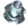 1/4-20 X 9/16 T-Nut Pronged Zinc 1/pk 0