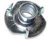 5/16-18 X 3/8 T-Nut Long Pronged Zinc 1/pk 0
