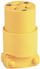 Cord End Female 20A/125V Nema5-20 Yellow Vinyl 4228-Box 0