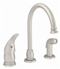 Faucet Banner Kitchen 1 Handle High Arch Deckless Brushed Nickel SH572HA-BN 0