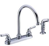 Faucet Banner Kitchen 2 Handle Brushed Nickel w/ Spray High Arch 372Ha-Bn 0