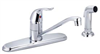 "Faucet Banner Kitchen 1 Handle Brushed Nickel w/ Spray & 32""Supply Lines 992-Bn 0"