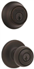 Deadbolt & Lockset Kwikset Polo Venetian Bronze Knob & Single Cylinder Deadbolt 690P11PcpK6 0