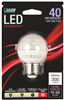 Bulb-Globe Led G16 4.8W 3000K Med  Base Dimmable Bpgm40/827/Led/2 Bpgm/Cl/Dm/Led 0