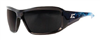 Safety Glasses Brazeau Apocalye Black & Blue /Smoke Lens Xb116-A2 0