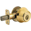 Deadbolt Kwikset Deadbolt Polished Brass Single Cylinder 660Cpus3K2 0