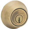 Deadbolt Kwikset Deadbolt Antique Brass Double Cylinder 665Cpus5K2 0