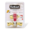 Deadbolt & Lockset Kwikset Tylo Polished Brass Knob & Single Cylinder Deadbolt 690Tus3 0