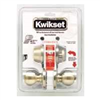 Deadbolt & Lockset Kwikset Tylo Antique Brass Knob & Single Cylinder Deadbolt 690Tus5 0