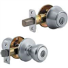 Deadbolt & Lockset Kwikset Tylo Satin Chrome Knob & Single Cylinder Deadbolt 690T26Cp6 0