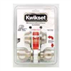 Deadbolt & Lockset Kwikset Polo Satin Nickel Knob & Single Cylinder Deadbolt 690P15Cpk2 0