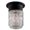 Light Fixture Exterior Wall Jelly Jar Black Hv-66919-Bk3L 0