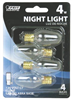 Bulb Nightlight Incandescent 4W C7 Clear Candelabra Base 4Pk Dimmable Bp4C7/4 0