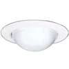 "Recess Light-Trim 6"" Shower Drop Opal w/  White Trim 172Ps 0"