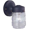 Light Fixture Exterior Wall Jelly Jar Black W15Bk01-33883L 0