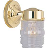 Light Fixture Exterior Wall Jelly Jar Brass 4402H-23L 0