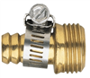 "Hose End Brass Male 5/8"" w/ Clamps 58135N 0"