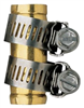 "Hose End Brass Mender 5/8"" w/ Clamps 58137N/GB91113L 0"