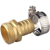 "Hose End Brass Male 3/4"" w/ Clamp 58141N 0"