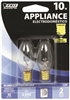 Bulb Appliance Incandescent 10W C7  Clear Candelabra Base 2Pk Dimmable Bp10C71/2Rp 0
