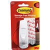Command Strips Hook w/ Adhesive Large 1Pc 0