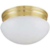 "Light Fixture Ceiling Polish Brass 9-1/8"" 2-Lite Low Profile F14Bb02-8005-3L 0"