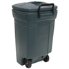 Trash Can 45Gal Plastic Wheeled Rm134501 Green W/Snap Lid     1345 0