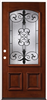 Door Unit-Mahogany Iron Grill 3068Lh M54 Weu,Prefinished,Open-In,No Csg,Dbl Bore 0