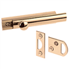 "Slide Bolt U9962 3"" W/2 Strikes Brass 0"